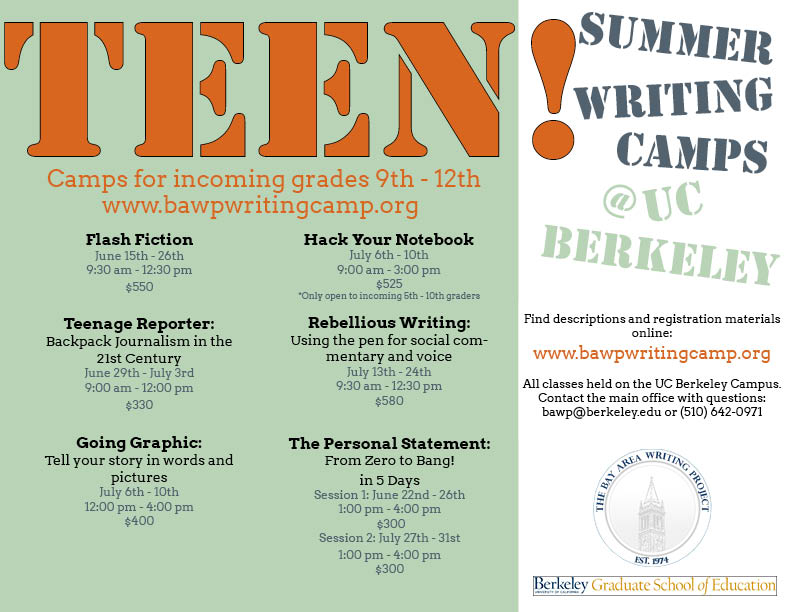 creative writing camps 2015